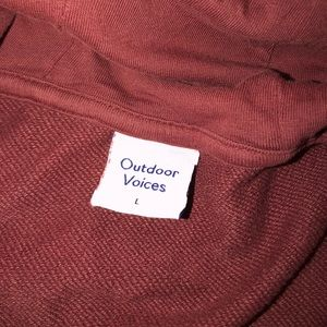 Outdoor Voices Tops - Outdoor Voices Cotton Terry Cropped Hoodie